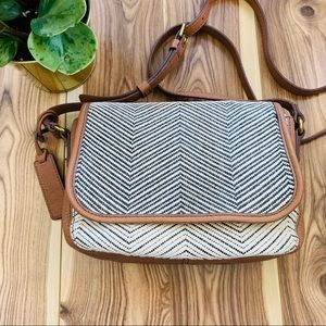 fossil crossbody shoulder bag leather multicolour
